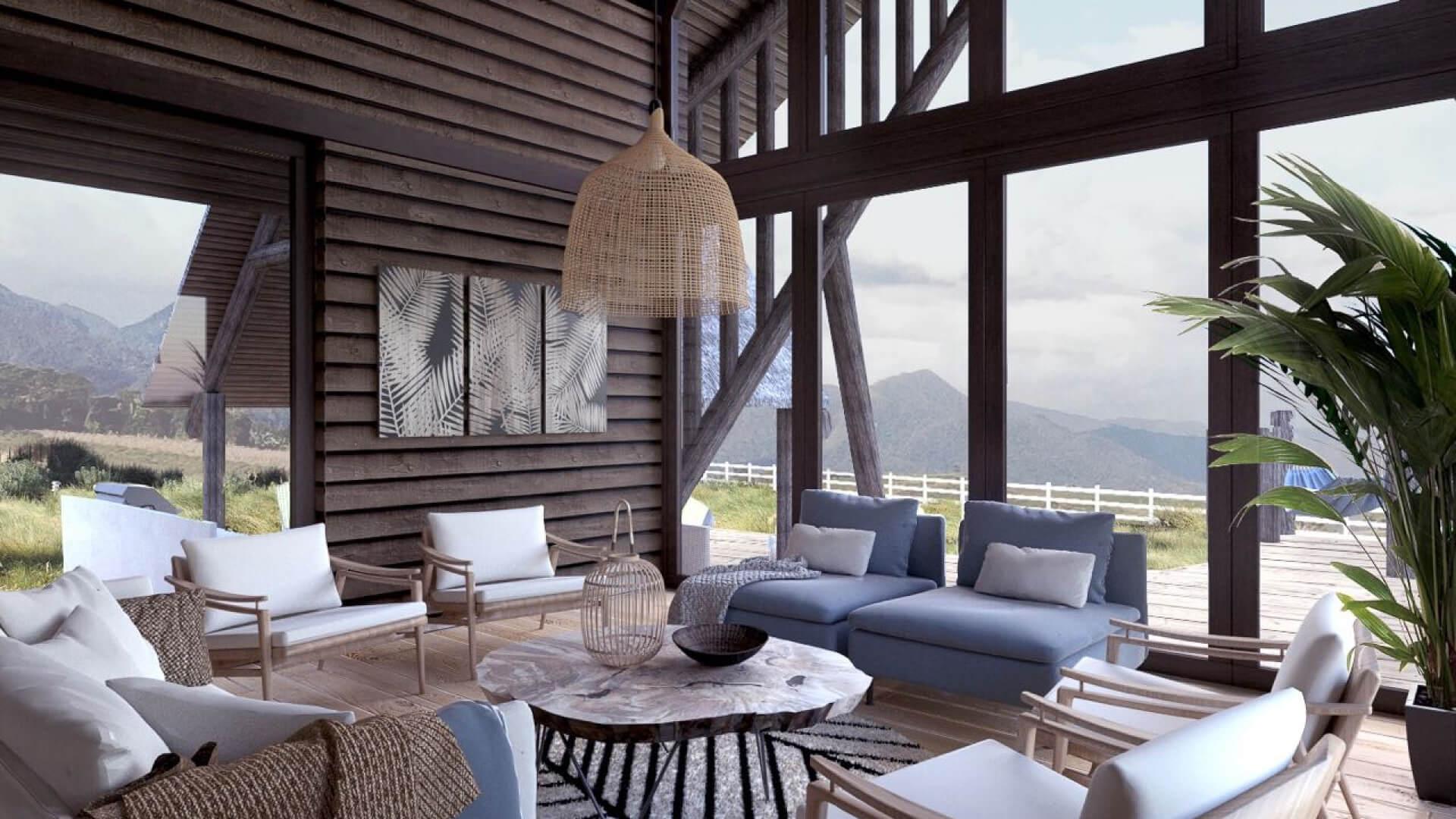 Sala de casa modelo exclusivo en Yanashpa Village, Tarapoto